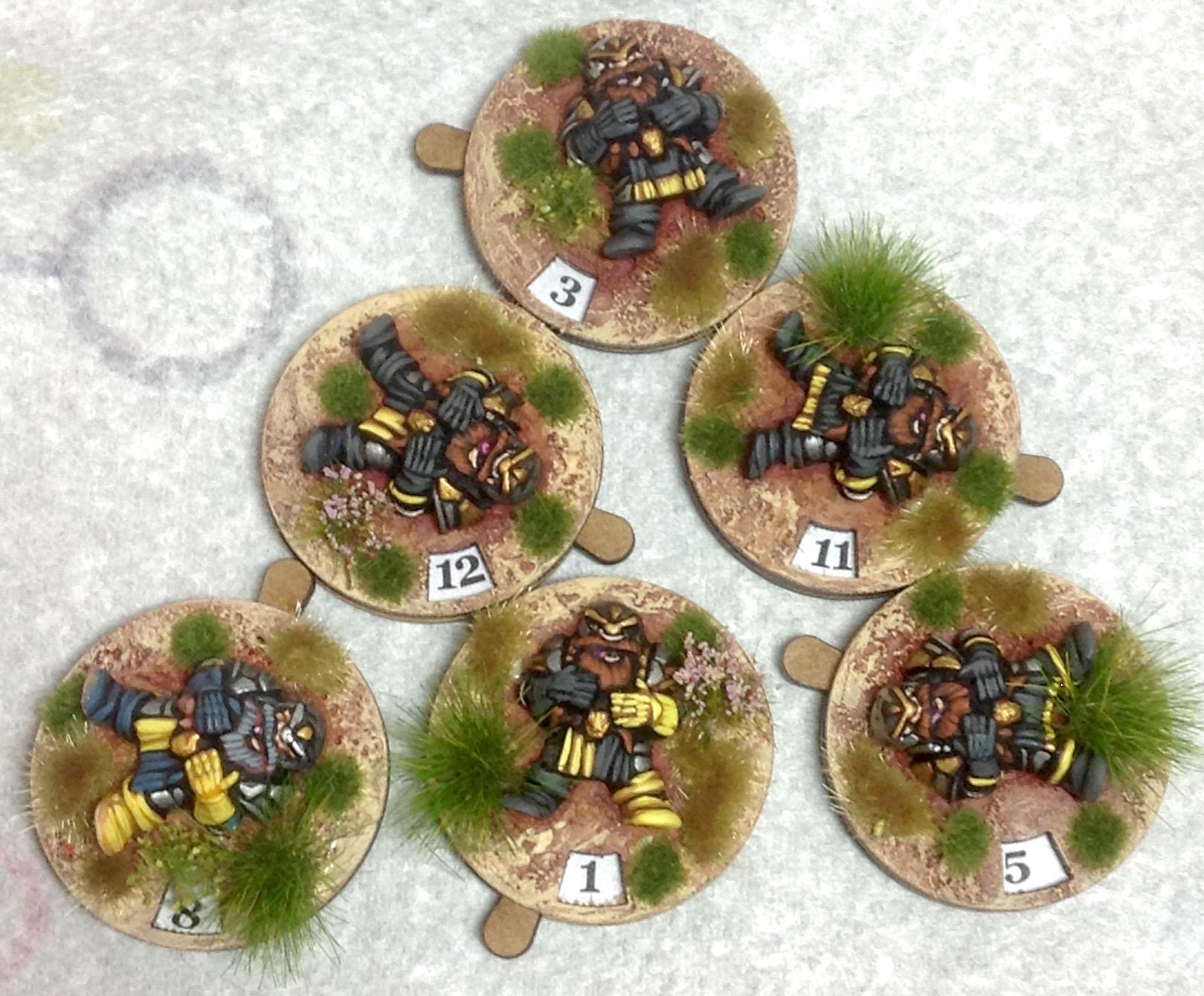 J Cockburn - Casualty Marker with Dwarfs